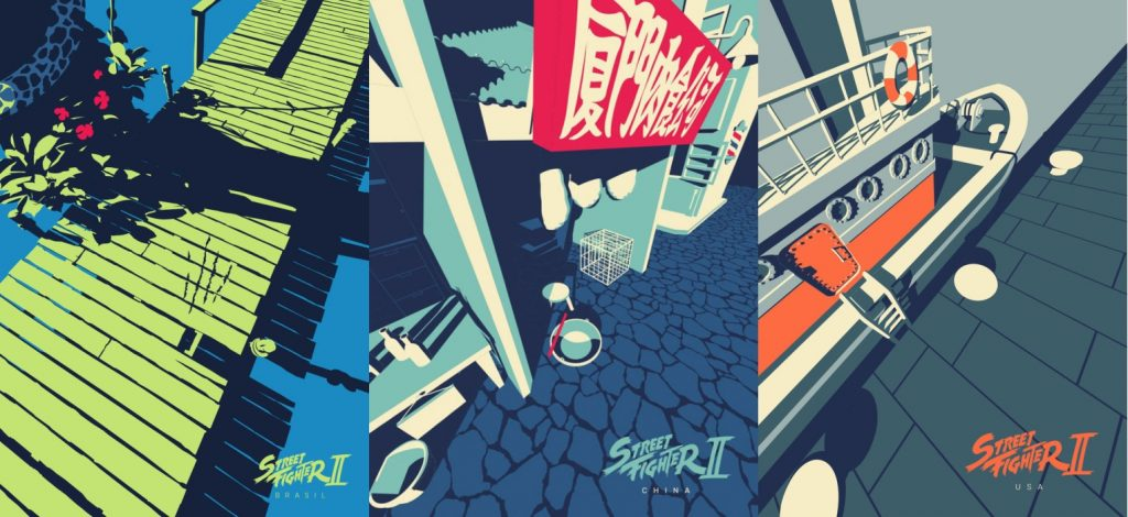 Super Creative Street Fighter II Stage Illustrations