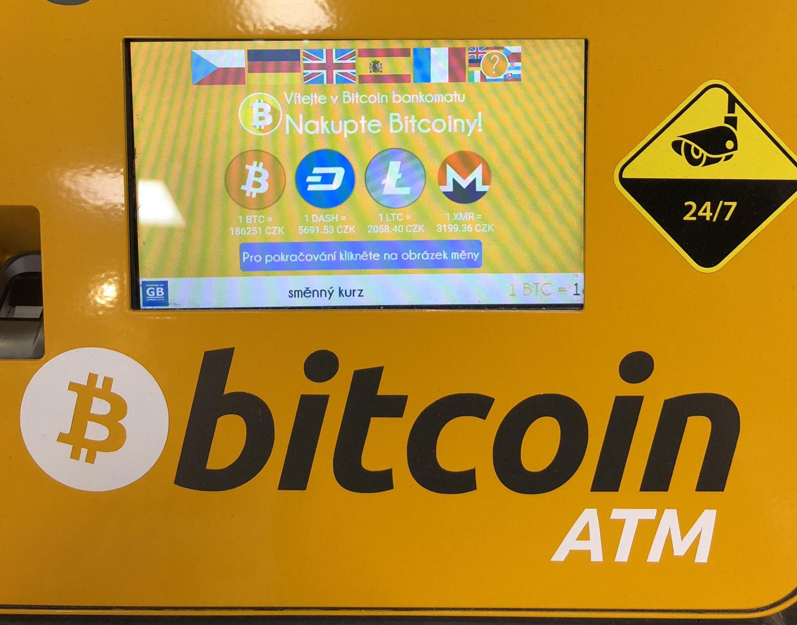 Bitcoin ATM in Prag