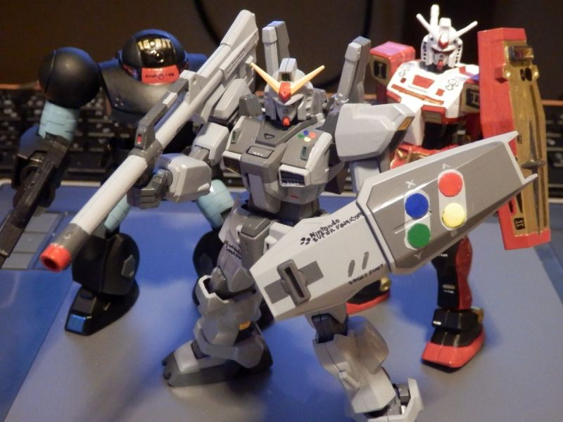 Classic Game Hardware Gundam Models