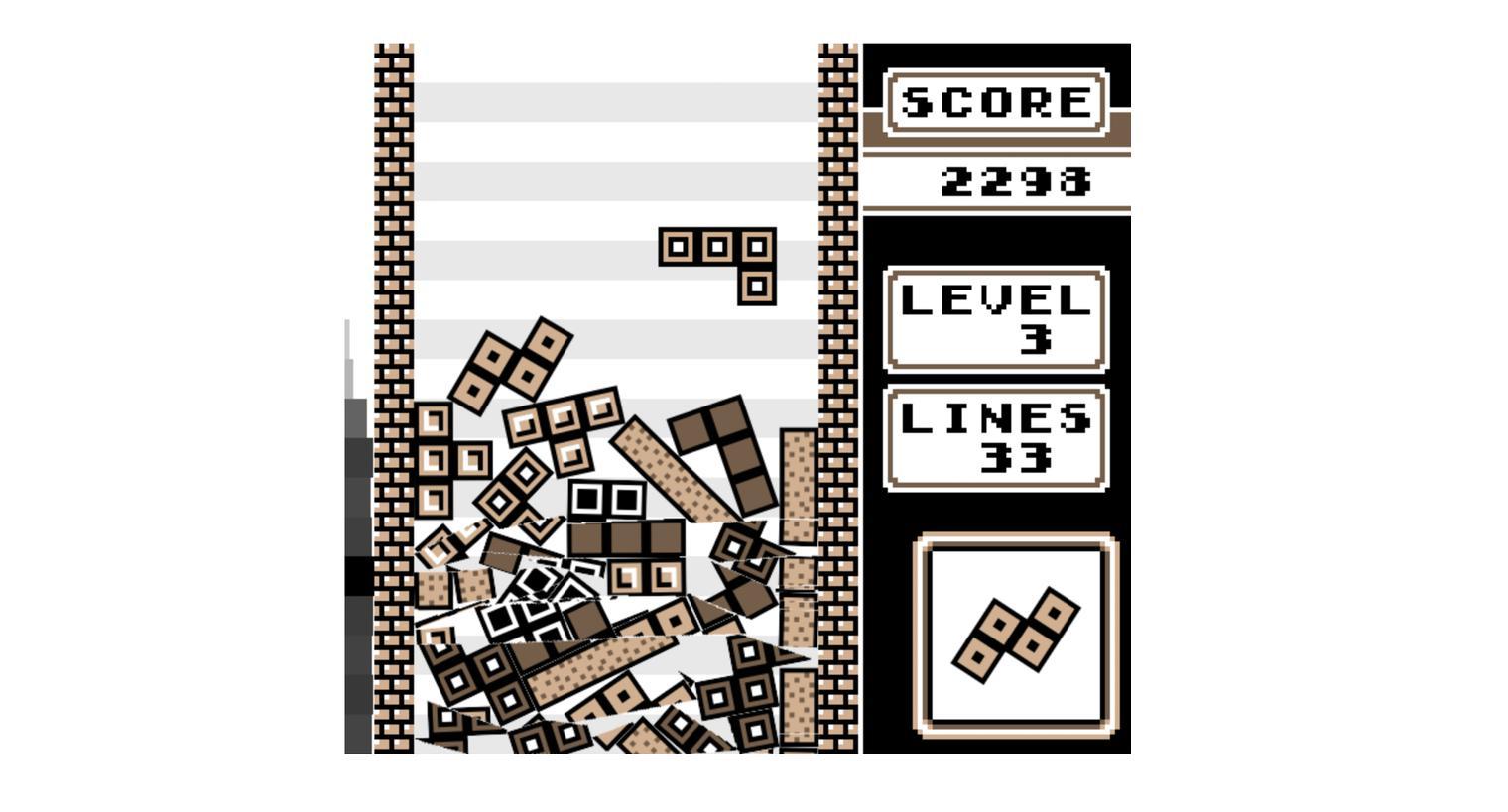 Tetris mixed with physics
