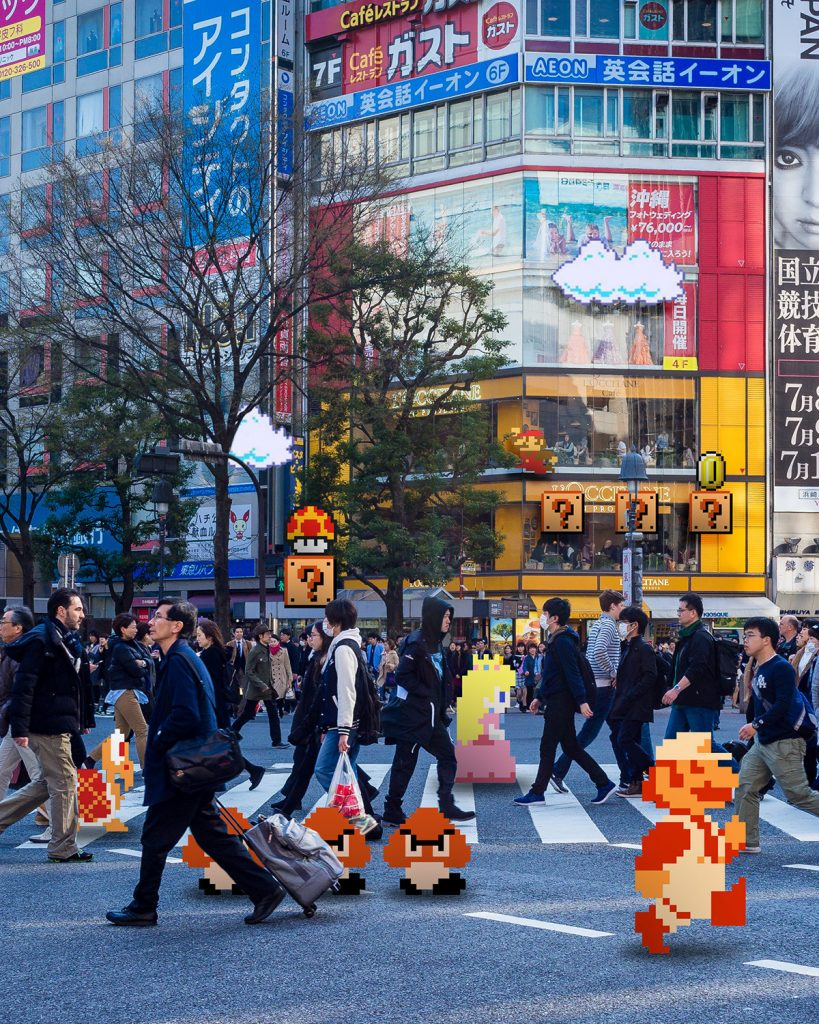 Akihabara + Mario Pixel Creatures