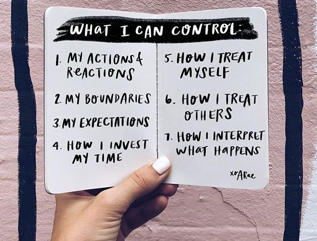 What i can Control: