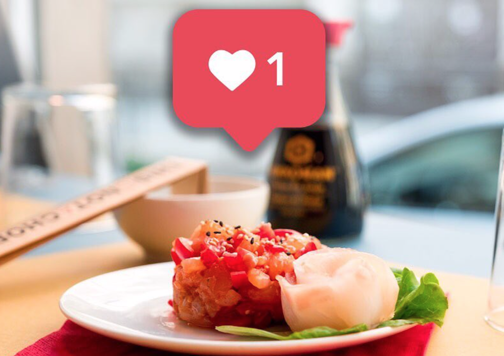 Sushi gegen Instagram Follower