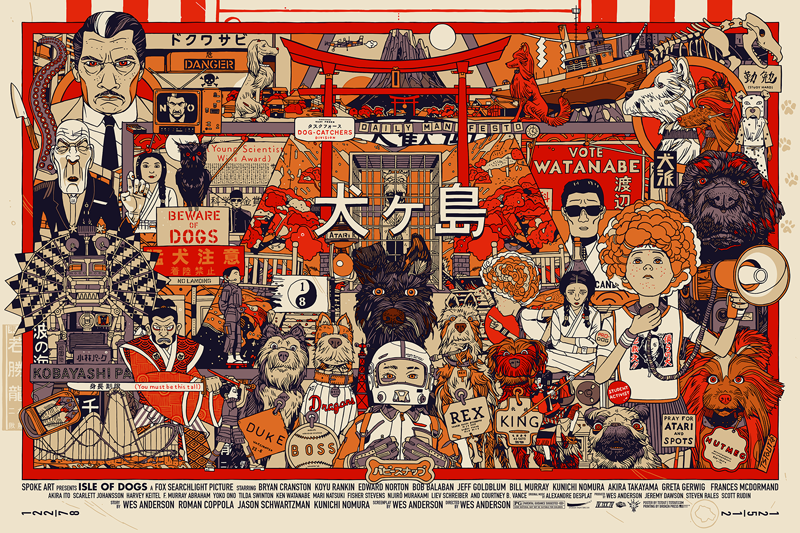 Isle of Dogs Screenprint