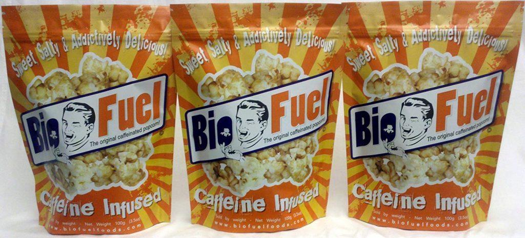 Koffeinhaltiges Popcorn