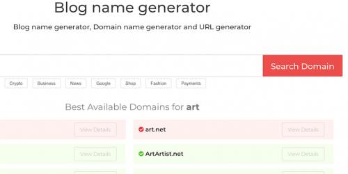 Blog Name Generator | ZWENTNER com