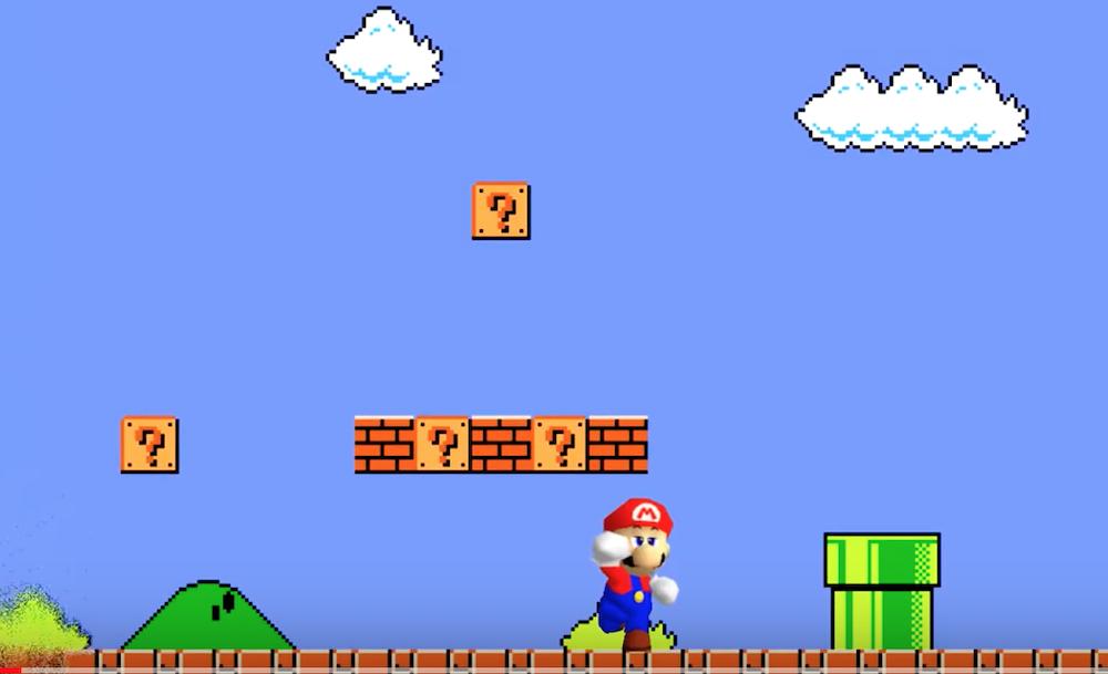 Super Mario Bros fully recreated in Super Mario 64