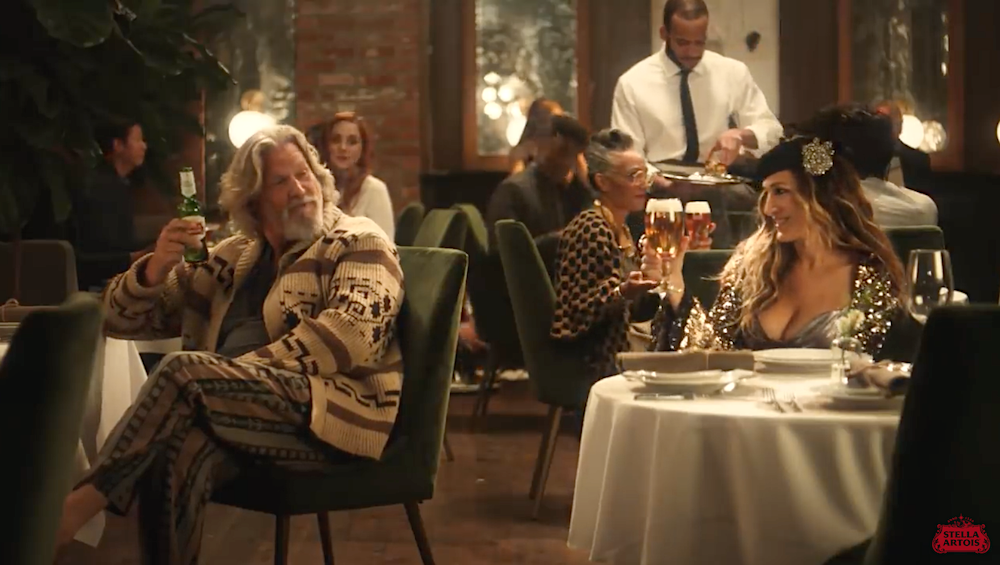 Dudes Beer Ad with Carrie Bradshaw ?