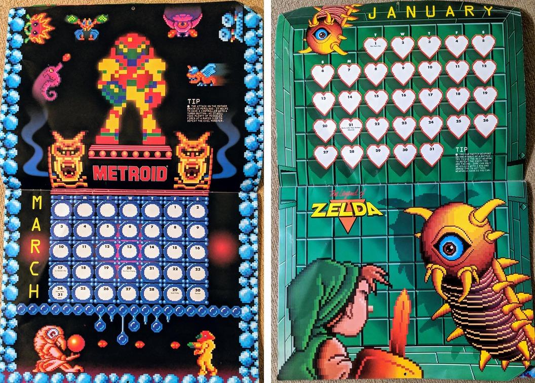 Nintendo Kalender aus dem Jahr 1991 jetzt wieder benutzbar
