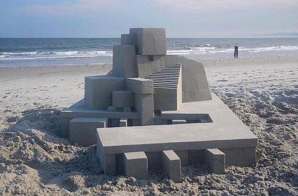 The Cleanest Sand Castle Ever