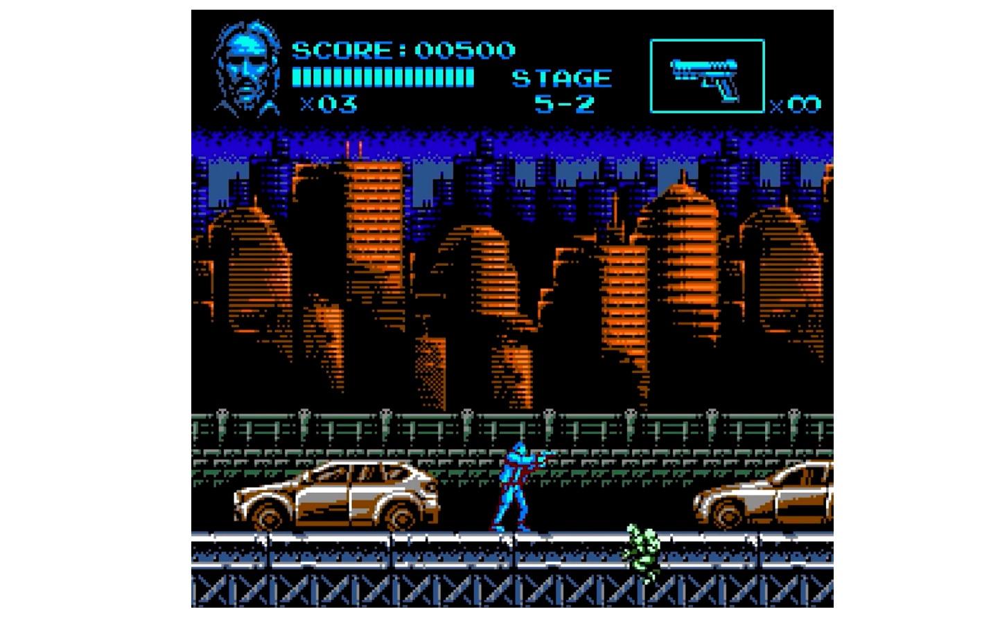 John Wick as a retro NES Game