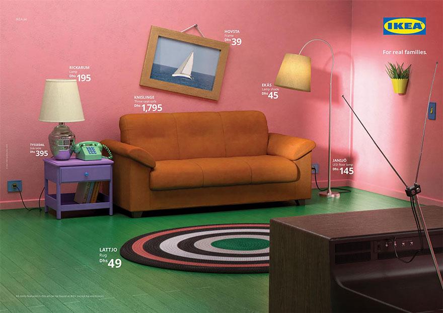 IKEA stellt berühmte Zimmer der TV-Kultur mit eigenen Möbeln nach