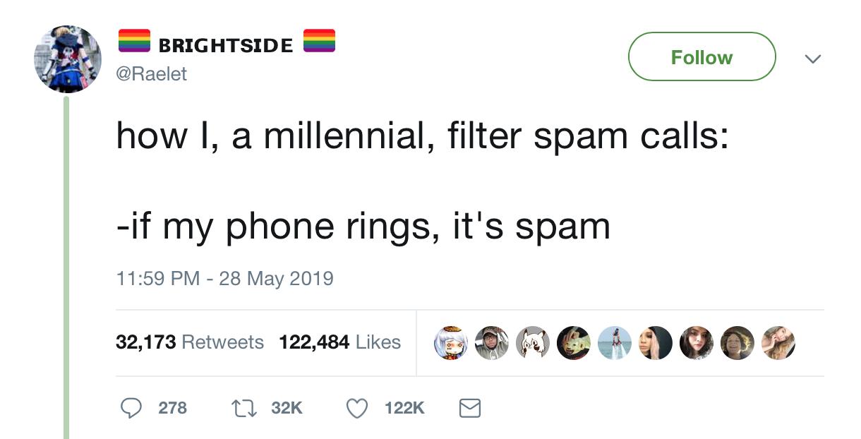 How Millenials filter SPAM Calls ?