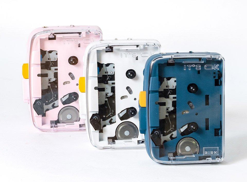 Durchsichtiger 'Walkman' mit Bluetooth Funktion