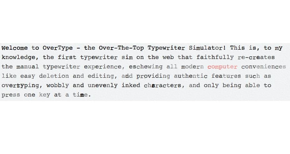 OverType: Retro Schreibmaschinen Simulator