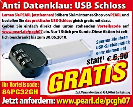 Anti Datenklau Zahlenschloss für USB-Stick ??