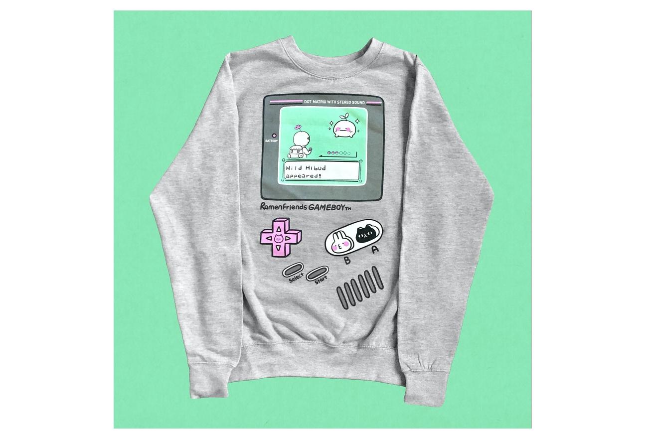 Ramen friends-GAMEBOY sweatshirt