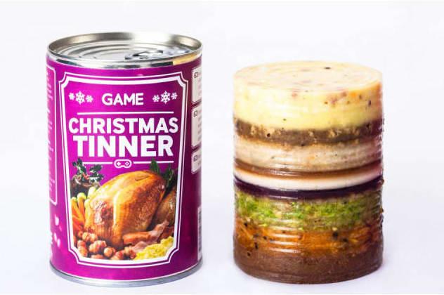 Veganes Weihnachtsessen aus der Dose konzipiert für Gamer