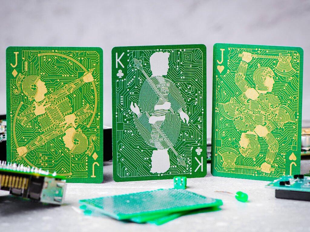 Platinen Spielkarten