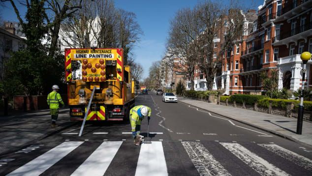 Abbey Road pinseln...