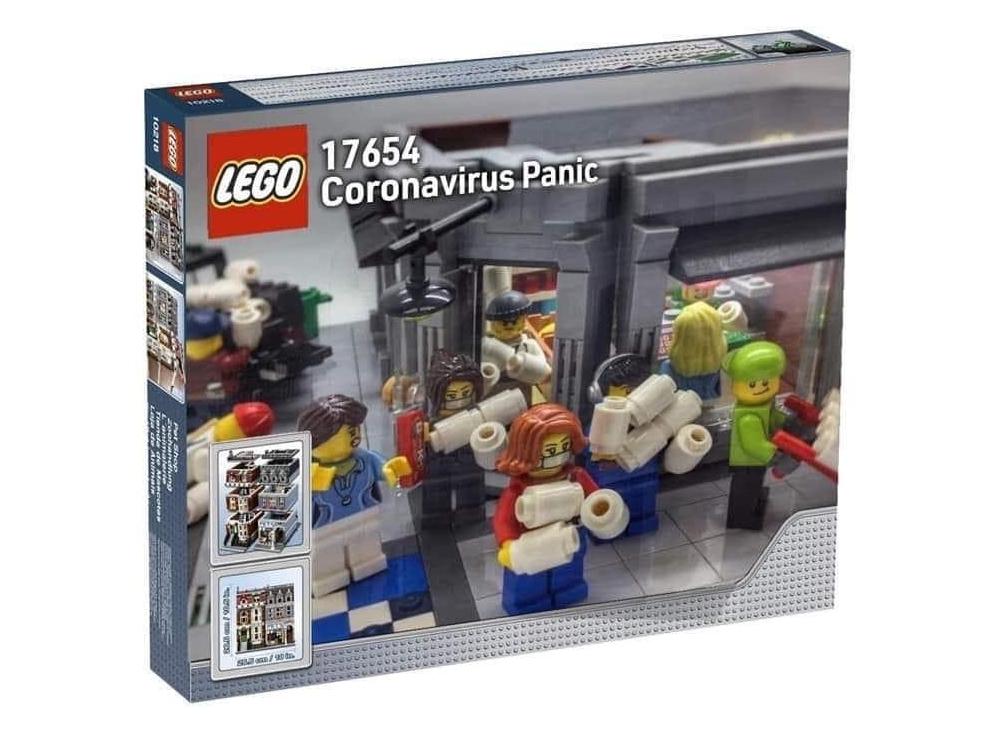 COVID-19 Klopapier-Run 'LEGO' Set