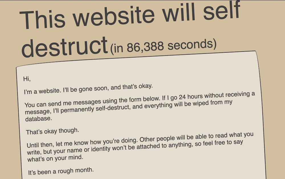 This website will self destruct