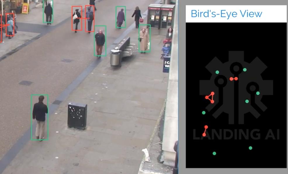 Social Distancing Detector (Landing AI-Demo)