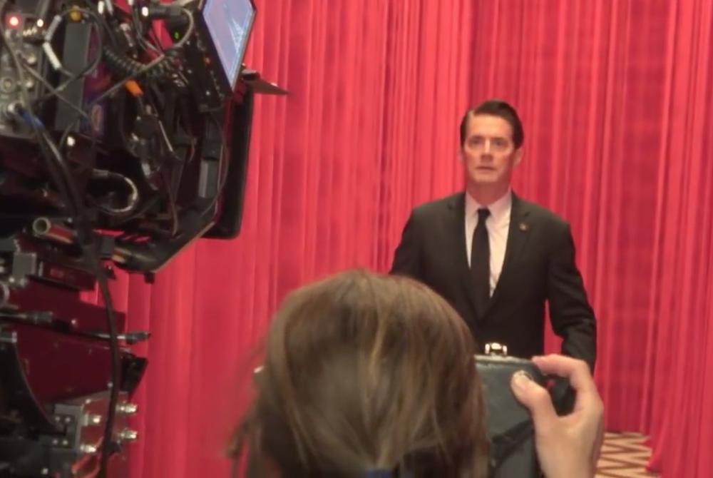 David Lynch directing Sheryl Lee & Kyle MacLachlan in Twin Peaks Season 3