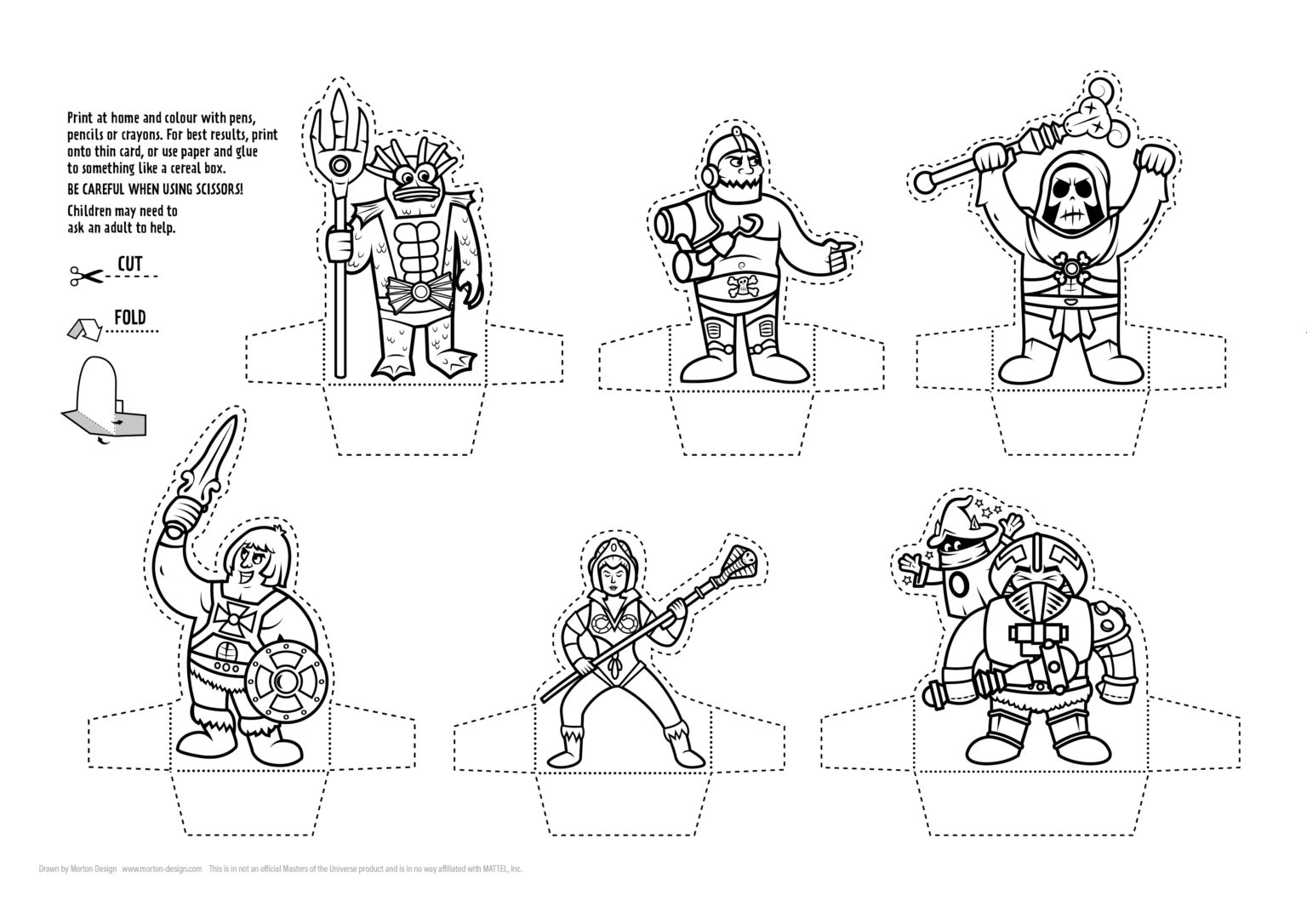 'Masters of the Universe' DIY Paper-Minis ?⚔️