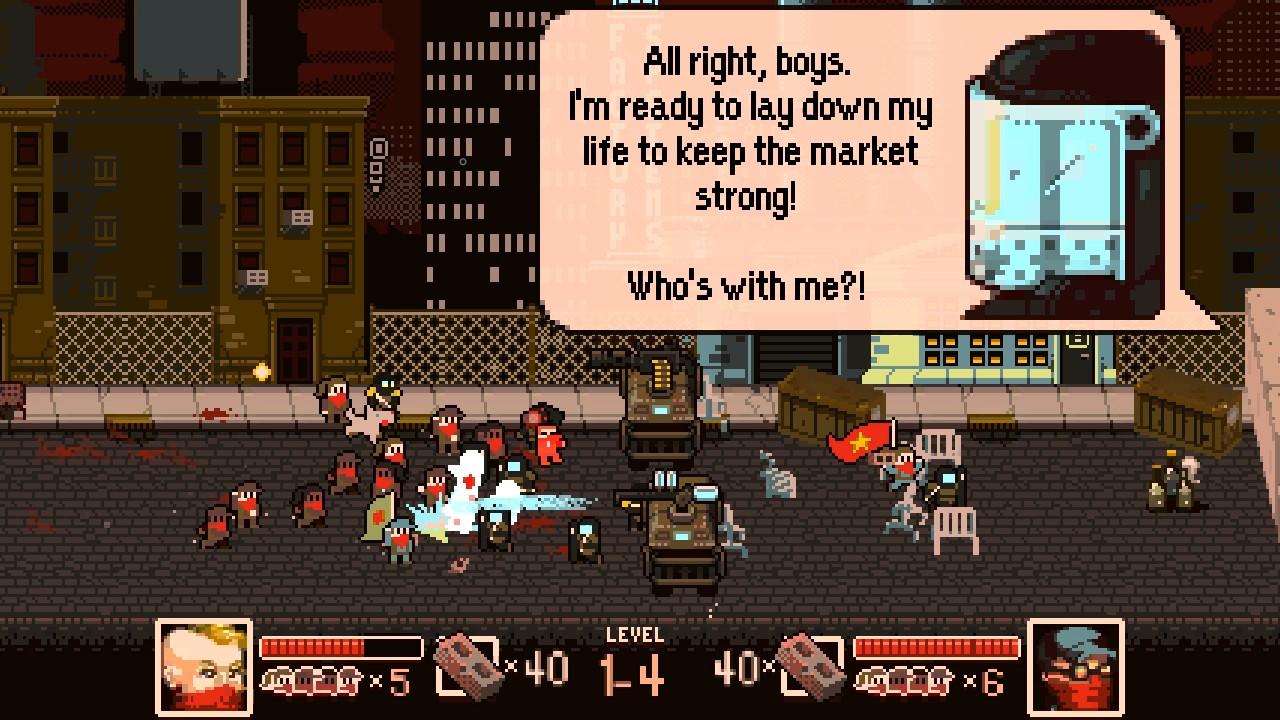 Tonight We Riot: Pixel-Game in dem man den Kapitalismus zerstört
