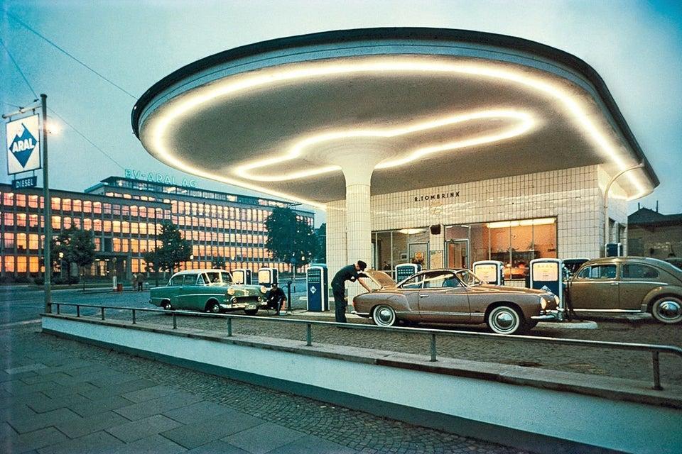 Tankstelle in Bochum 1958