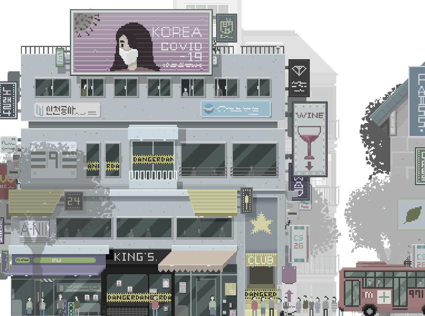 Korean Street Pixel Art