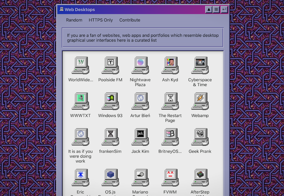 Websites that look like Desktops