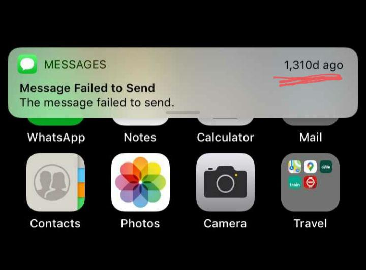Message failed to send