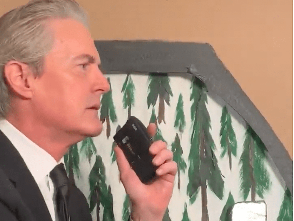Kyle MacLachlan lip-synced his Entering the town of Twin Peaks scene