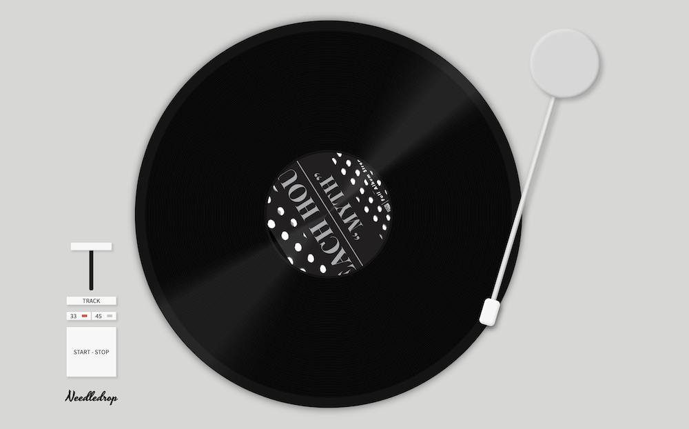 A turntable interface for music playback