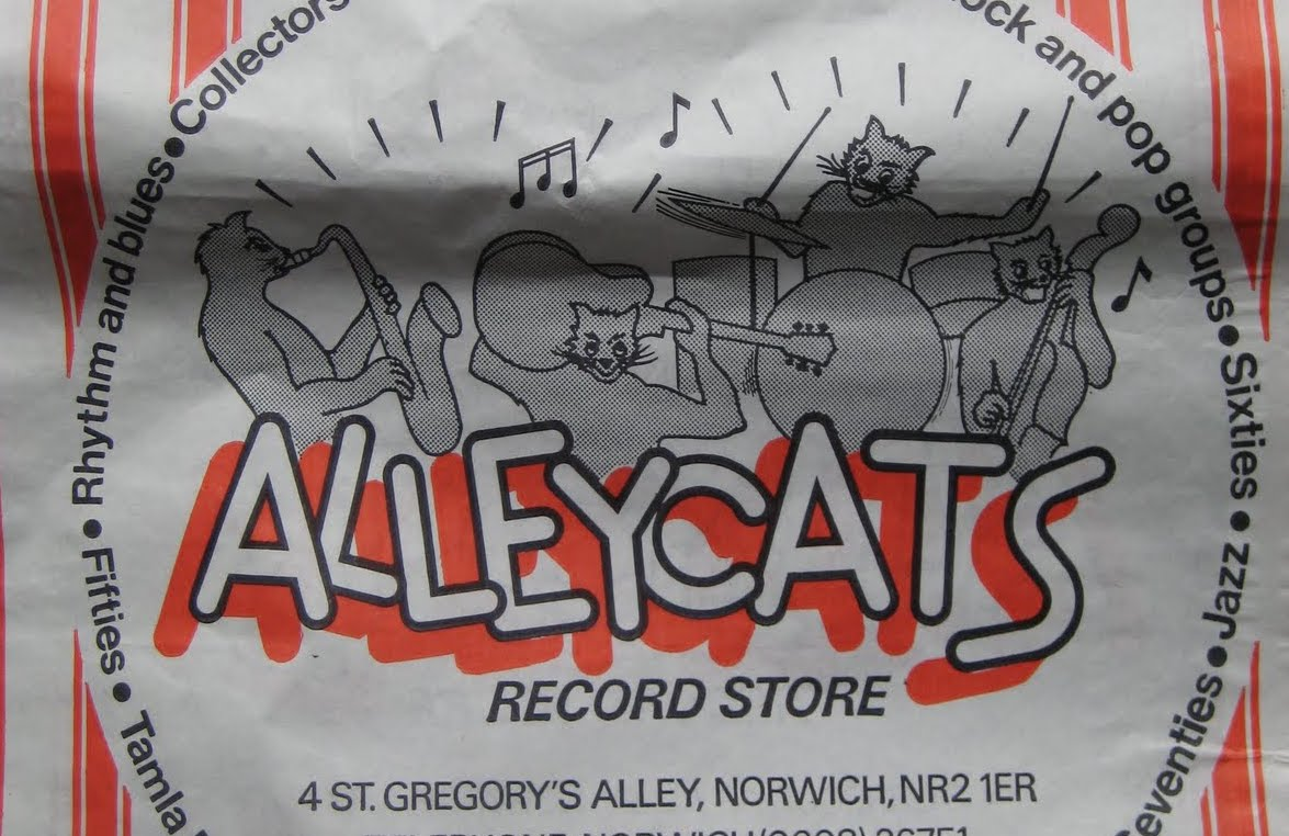 A Great Collection of Vintage Record Store Bags