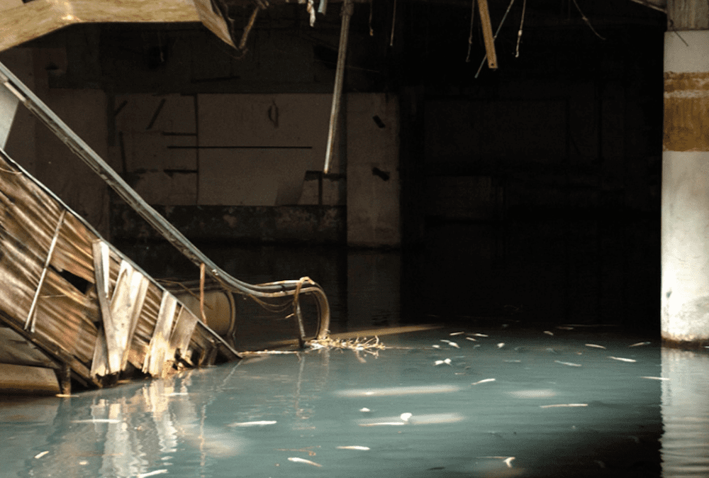 What a wonderful world by Louis Armstrong (but in a flooded abandoned mall)